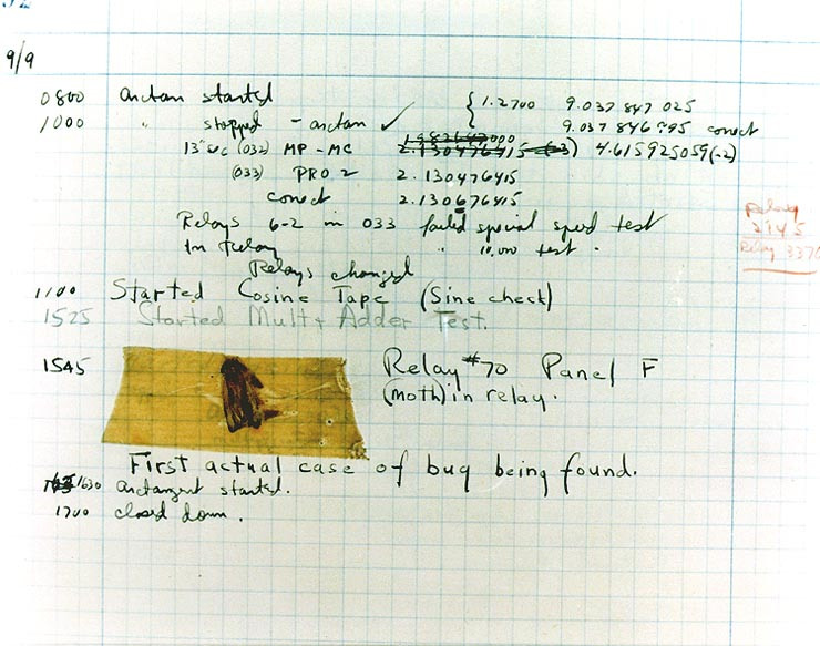 the first real bug found in a computer